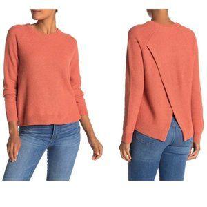 MADEWELL Province Cross Back sweater orange EUC S